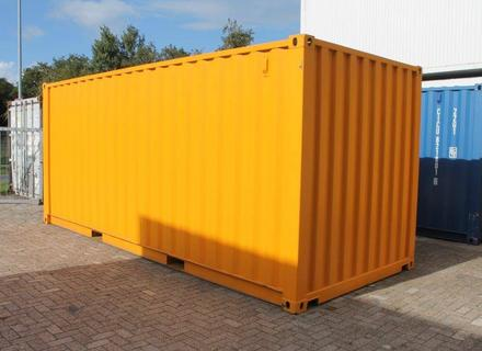 20ft. Seecontainer, Stahlboden, RAL 1007 Narzissengelb